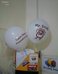 Balon Print Mr. Kriukk Putih Doft