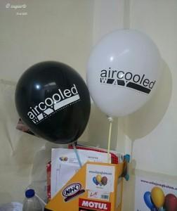 Balon Print aircooled Hitam dan Putih doft
