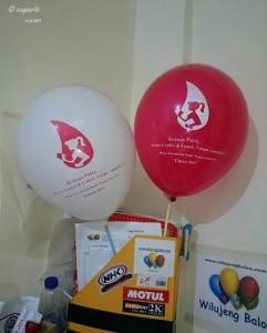 Balon print Doft dan Merah Magenta