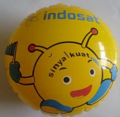 Balon Koin Indosat Bulat