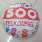 Balon Koin Telkomsel Bulat
